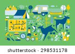 panoramic composition with...   Shutterstock .eps vector #298531178