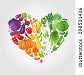heart of vegetables. healthy... | Shutterstock .eps vector #298531436