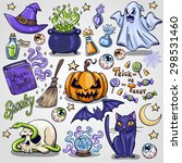 halloween characters and... | Shutterstock .eps vector #298531460