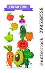 a set of cute fruit.... | Shutterstock .eps vector #298538528