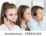 Portrait Of Call Center Worker...