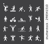white silhouette figures of... | Shutterstock . vector #298541510