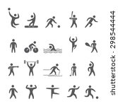 silhouettes figures of athletes ... | Shutterstock . vector #298544444