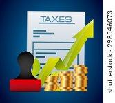 taxes concept design  vector...   Shutterstock .eps vector #298546073