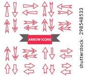 illustration of arrow icons set ...