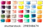 set of watercolors with names | Shutterstock .eps vector #298548674