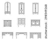 set of black and white outline... | Shutterstock .eps vector #298549268