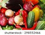 Vegetables In The Basket On...