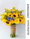 Natural Flowers Wedding Bouquet