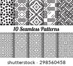 set of 10 abstract patterns.... | Shutterstock .eps vector #298560458