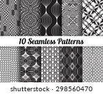set of 10 abstract patterns.... | Shutterstock .eps vector #298560470