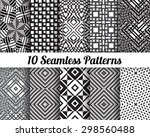 set of 10 abstract patterns.... | Shutterstock .eps vector #298560488