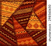 ethnic geometric pattern.... | Shutterstock .eps vector #298560650