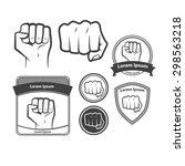 set of images  for logo  fist... | Shutterstock .eps vector #298563218