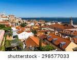 aerial view of lisbon  portugal.... | Shutterstock . vector #298577033