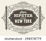 vector. retro design | Shutterstock .eps vector #298578779
