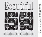 'beautiful'  artwork for girls... | Shutterstock . vector #298579694