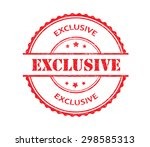 exclusive rubber stamp... | Shutterstock .eps vector #298585313