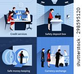 bank people design concept set... | Shutterstock .eps vector #298595120