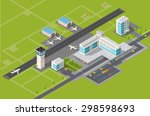 airport terminal for arrival... | Shutterstock . vector #298598693