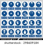 set of safety and health... | Shutterstock .eps vector #298609184