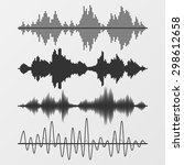set of vector sound waves | Shutterstock .eps vector #298612658