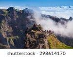 trekking from pico do arieiro... | Shutterstock . vector #298614170