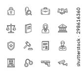 law thin line icons | Shutterstock .eps vector #298616360