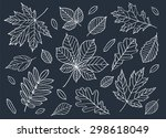 fall of the leaves. a big set... | Shutterstock .eps vector #298618049