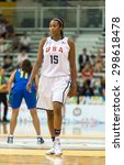 Small photo of TORONTO,CANADA-JULY 16, 2015: Toronto 2015 Pan Am or Pan American Games, women basketball: Alaina Coates central player in the US team during the game against Brazil.CN 01953074