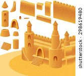 sand castle  set of component... | Shutterstock .eps vector #298619480