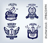 rugby club emblem  college... | Shutterstock .eps vector #298623494