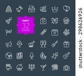 outline web icon set   party ... | Shutterstock .eps vector #298626926