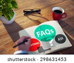 faqs frequently asked questions ... | Shutterstock . vector #298631453