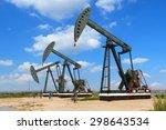 green oil pump oil rig energy... | Shutterstock . vector #298643534