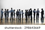 corporate business team... | Shutterstock . vector #298643669