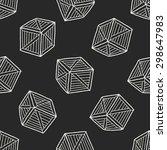wood box doodle seamless... | Shutterstock .eps vector #298647983