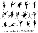 ballet icon | Shutterstock .eps vector #298653503