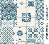 cracked tile pattern for... | Shutterstock .eps vector #298660874