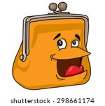 purse full brown cartoon with... | Shutterstock .eps vector #298661174