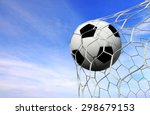soccer ball and sky background  | Shutterstock . vector #298679153