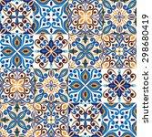 seamless tile background  blue  ... | Shutterstock .eps vector #298680419