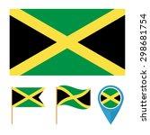 jamaica flat icons for design...   Shutterstock .eps vector #298681754