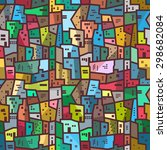 colorful urban abstract pattern.... | Shutterstock .eps vector #298682084