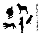 french bulldog vector icons and ... | Shutterstock .eps vector #298688798