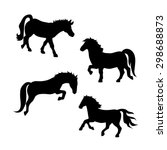 pony vector icons and... | Shutterstock .eps vector #298688873
