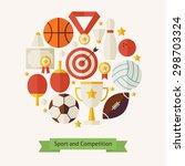 vector flat style sport... | Shutterstock .eps vector #298703324
