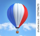 hot air balloon with french flag | Shutterstock . vector #298708670