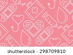 minimal flat line medical and... | Shutterstock .eps vector #298709810