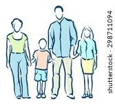 family | Shutterstock .eps vector #298711094